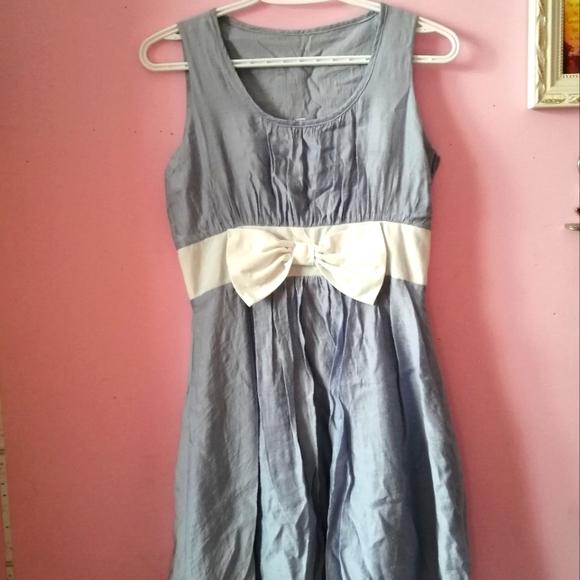 2FOR30 Korean Mini Dress in Baby Blue